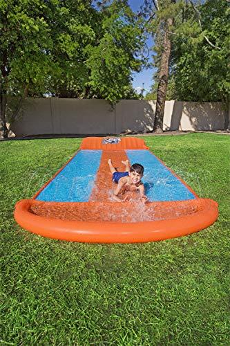 Bestway H2oGo 3er-Wasserrutsche, mit aufblasbarer Startrampe, Triple Ramp, 549 cm - 7