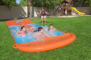 Bestway H2oGo 3er-Wasserrutsche, mit aufblasbarer Startrampe, Triple Ramp, 549 cm - 8