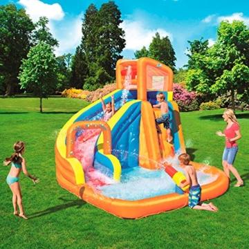 Bestway H2OGO! Wasserpark Turbo Splash, Planschbecken mit Wasserrutsche und Kletterwand, 365x320x275 cm - 2