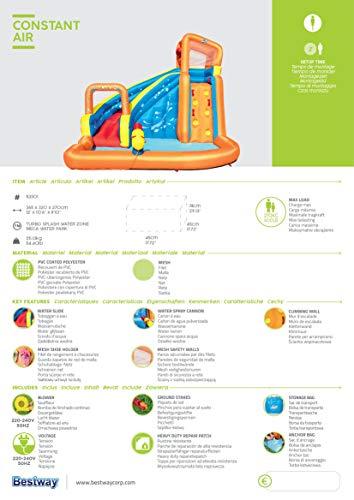 Bestway H2OGO! Wasserpark Turbo Splash, Planschbecken mit Wasserrutsche und Kletterwand, 365x320x275 cm - 11