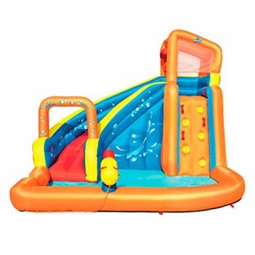 Bestway H2OGO! Wasserpark Turbo Splash, Planschbecken mit Wasserrutsche und Kletterwand, 365x320x275 cm - 1