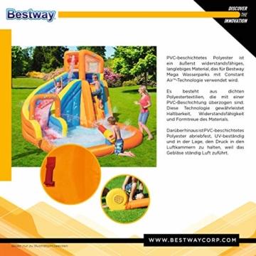 Bestway H2OGO! Wasserpark Turbo Splash, Planschbecken mit Wasserrutsche und Kletterwand, 365x320x275 cm - 10