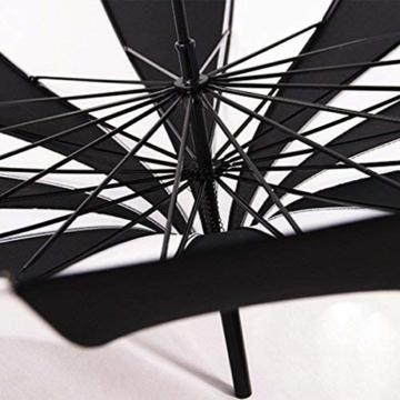 BJYG Golfschirm Schwarz-weiß gestreifter Regenschirm Pagodenschirm 16 schwarzer Klavierlack verstärkter Schirmständer Sonnenschirmschirm - 5