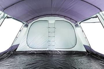CampFeuer Familienzelt XtraL Zelt für 6 Personen | riesiger Vorraum, 5000 mm Wassersäule | Campingzelt Tunnelzelt groß - 6