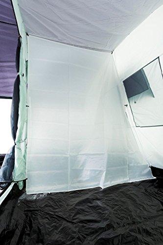 CampFeuer Familienzelt XtraL Zelt für 6 Personen | riesiger Vorraum, 5000 mm Wassersäule | Campingzelt Tunnelzelt groß - 7