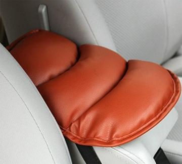 CAOLATOR Armlehne Kissen Auto Universal Armlehne Kissen 21 * 29cm Braun - 2
