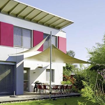 CelinaSun Sonnensegel Sonnenschutz Garten Balkon und Terrasse PES Polyester Wetterschutz wasserabweisend imprägniert Schattenspender 0010535 Dreieck 5 x 5 x 5 m Creme weiß - 2