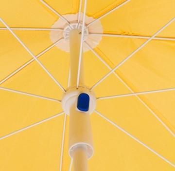 DEMA Strandschirm gelb 180 / UV30 - 5