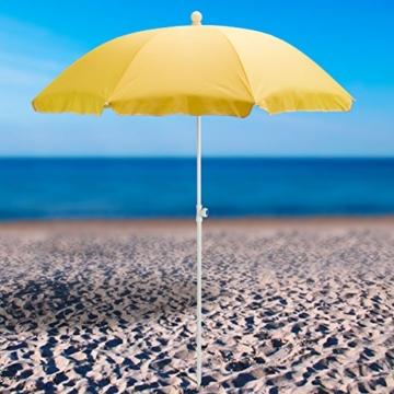 DEMA Strandschirm gelb 180 / UV30 - 6