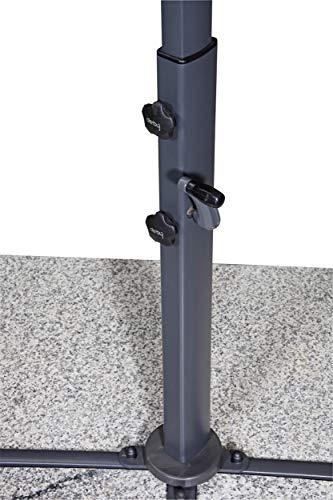 Derby Ravenna Smart 300 – Hochwertiger Ampelschirm ideal für Garten und Terrasse – Neigbar – ca. 300cm – Anthrazit - 6