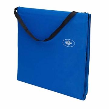 Deuba Strandmatte Gepolstert Kopfkissen Faltbar Verstellbare Rückenlehne Staufach Badematte Isomatte Strandtuch Blau - 6