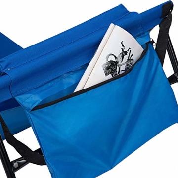Deuba Strandmatte Gepolstert Kopfkissen Faltbar Verstellbare Rückenlehne Staufach Badematte Isomatte Strandtuch Blau - 7