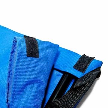 Deuba Strandmatte Gepolstert Kopfkissen Faltbar Verstellbare Rückenlehne Staufach Badematte Isomatte Strandtuch Blau - 8