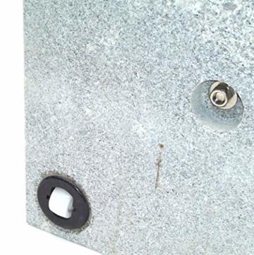 D&L Granit Sonnenschirmständer Schirmständer Schirm Ständer Granitständer m. Rollen [55880 Granit Sonnenschirmständer 30kg 45x45x5.5 Rollen] AWZ - 2