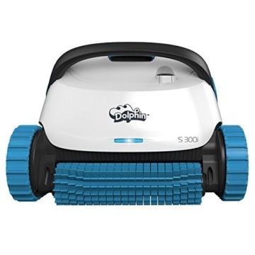 Dolphin S300i App Steuerbarer Poolroboter mit Caddy weiß/blau - 1