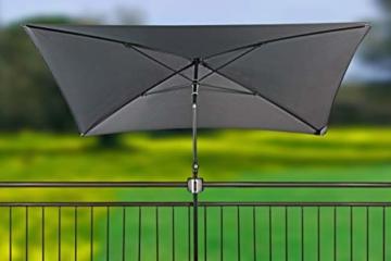 Doppler Balkonklammer Fix Vario – Praktische Balkonhalterung zur Montage eines Sonnenschirmes an runde Geländer – Platzsparend - 4