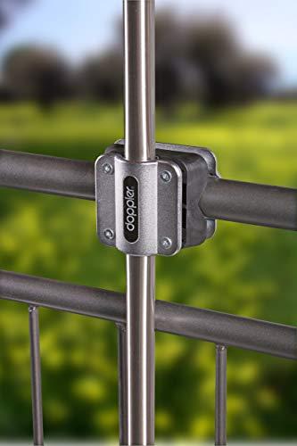 Doppler Balkonklammer Fix Vario – Praktische Balkonhalterung zur Montage eines Sonnenschirmes an runde Geländer – Platzsparend - 5