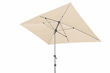 Doppler EXPERT Auto Tilt – Rechteckiger Sonnenschirm für Balkon oder Terrasse – Knickbar – ca. 300x200 cm – Natur - 1