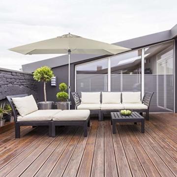 Doppler EXPERT Auto Tilt – Rechteckiger Sonnenschirm für Balkon oder Terrasse – Knickbar – ca. 300x200 cm – Natur - 5