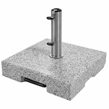 Doppler SL-AZ Granit Auszieh-Griff 72kg Sonnenschirmständer, grau - 3