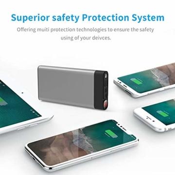 Externer Akku 30000mAh Powerbanks Mobiles Portable Ladegerät Die kann Nicht nur Ihr Handy Aufladen sondern sie ist auch kompatibel mit Spielkonsole ( Grau_30000mAh) - 5