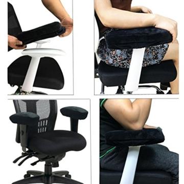 Fenteer 2er Stuhl Rollstuhl Armlehnen Polster Armlehne Kissen Polster - Schwarz - 5