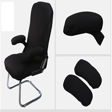 Fenteer 2er Stuhl Rollstuhl Armlehnen Polster Armlehne Kissen Polster - Schwarz - 9