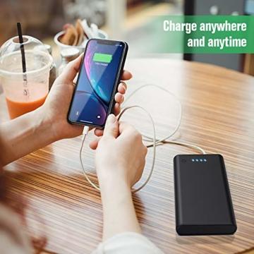Feob Powerbank - Neuester Intelligent Steuerung-IC Externer Akku 24800mAh Ultra-Hohe Kapazität Power Bank Power Pack Schnellladung Ladegerät Akku Pack für iPhone, iPad, Samsung Galaxy und mehr - 6
