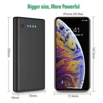 Feob Powerbank - Neuester Intelligent Steuerung-IC Externer Akku 24800mAh Ultra-Hohe Kapazität Power Bank Power Pack Schnellladung Ladegerät Akku Pack für iPhone, iPad, Samsung Galaxy und mehr - 7
