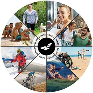 Fit-Flip Sporthandtuch, Reisehandtuch, Microfaser-Badetuch, XXL Strandhandtuch, Sauna Microfaser Handtuch groß (100x200cm Olive) - 7