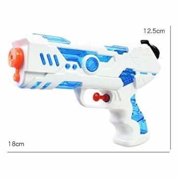 FLORMOON 2 Stücke Wasserpistole 250ml Wasserspielzeug Kunststoff Spielzeug im Freien Sommerspaß Spielzeug für Kleinkinder Jungen Mädchen(Blau & Pink) - 2