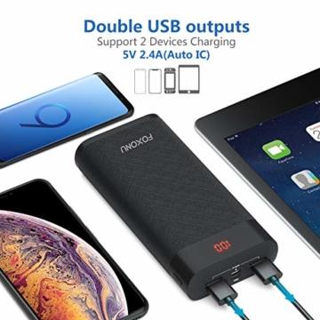 FOXONU 26800mAh Powerbank, Externer Akku Mit LED Digital Display Power Bank, Hohe Kapazität mit 2 Eingänge und 2 USB Ausgänge für Handy, iPhone, iPad, Samsung Galaxy und Tablet - 3