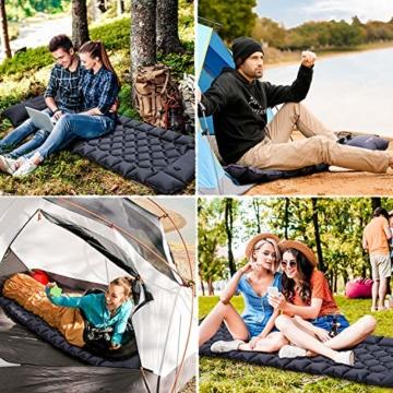FRETREE Isomatte Camping Selbstaufblasbare - Aufblasbare, leichte Rucksackunterlage für Wanderungen zum Wandern auf Reisen, langlebige, wasserdichte, kompakte Wanderunterlage mit Luftmatratze - 8