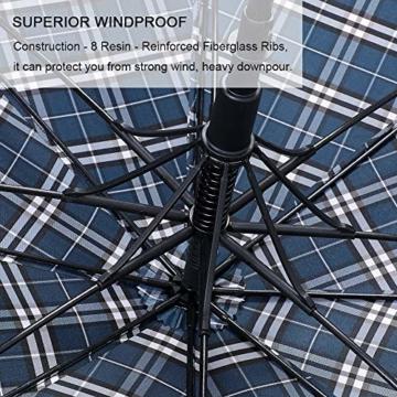 G4Free 62/68 Inch Extra Großer Golfschirm Automatisches Öffnen Übergroße Winddichte wasserdichte Haltbare Regenschirme für Herren und Damen - 4