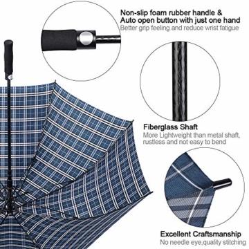 G4Free 62/68 Inch Extra Großer Golfschirm Automatisches Öffnen Übergroße Winddichte wasserdichte Haltbare Regenschirme für Herren und Damen - 5
