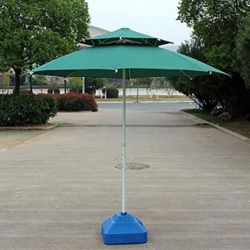 gaeruite Schirmständer Sonnenschirmständer, Sonnenschirmfuß Balkonschirmständer Sonnenschirm Ständer Wasser, Kunststoff Sand Eimer Regenschirm Basis, 30L - 7