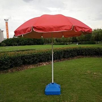 gaeruite Schirmständer Sonnenschirmständer, Sonnenschirmfuß Balkonschirmständer Sonnenschirm Ständer Wasser, Kunststoff Sand Eimer Regenschirm Basis, 30L - 8
