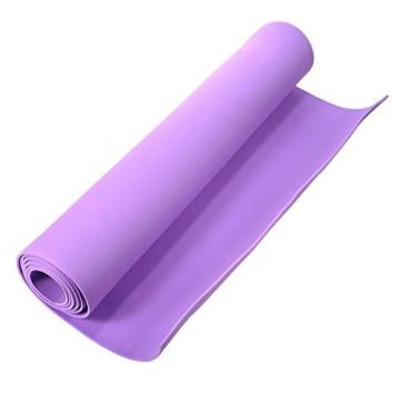Globalqi Sports Yoga Matte Große, Komfortable Wasserdicht und staubdicht Rutschfest Umweltfreundliche Fitness Yoga Matte, Sehr Geeignet für Gymnastik Pilates, Fitness, Gym Violett - 2