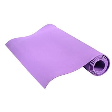 Globalqi Sports Yoga Matte Große, Komfortable Wasserdicht und staubdicht Rutschfest Umweltfreundliche Fitness Yoga Matte, Sehr Geeignet für Gymnastik Pilates, Fitness, Gym Violett - 3