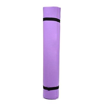 Globalqi Sports Yoga Matte Große, Komfortable Wasserdicht und staubdicht Rutschfest Umweltfreundliche Fitness Yoga Matte, Sehr Geeignet für Gymnastik Pilates, Fitness, Gym Violett - 4