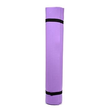 Globalqi Sports Yoga Matte Große, Komfortable Wasserdicht und staubdicht Rutschfest Umweltfreundliche Fitness Yoga Matte, Sehr Geeignet für Gymnastik Pilates, Fitness, Gym Violett - 1