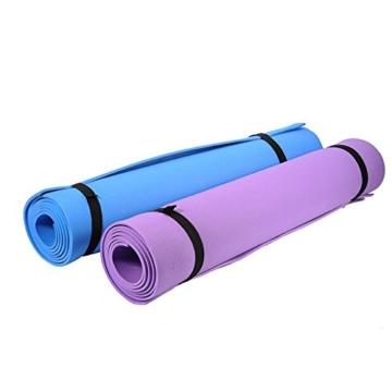 Globalqi Sports Yoga Matte Große, Komfortable Wasserdicht und staubdicht Rutschfest Umweltfreundliche Fitness Yoga Matte, Sehr Geeignet für Gymnastik Pilates, Fitness, Gym Violett - 6