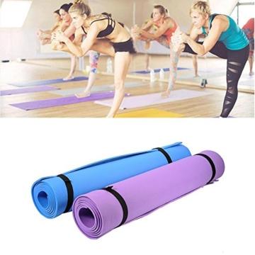 Globalqi Sports Yoga Matte Große, Komfortable Wasserdicht und staubdicht Rutschfest Umweltfreundliche Fitness Yoga Matte, Sehr Geeignet für Gymnastik Pilates, Fitness, Gym Violett - 7