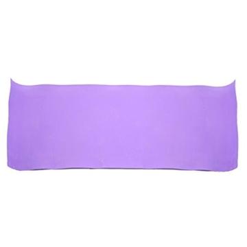 Globalqi Sports Yoga Matte Große, Komfortable Wasserdicht und staubdicht Rutschfest Umweltfreundliche Fitness Yoga Matte, Sehr Geeignet für Gymnastik Pilates, Fitness, Gym Violett - 8