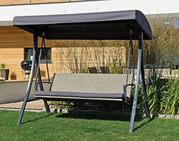 Haberkorn-Garten Hollywoodschaukel Bering Moderne Design Rattan Schaukel 3-Sitz - 2