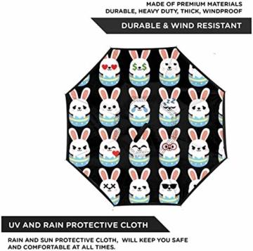 Häschen-Osterei Emoji-Rückseiten-Regenschutz-Auto-Rückseiten-Regenschirme - 2