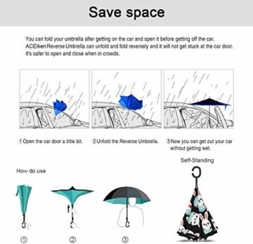Häschen-Osterei Emoji-Rückseiten-Regenschutz-Auto-Rückseiten-Regenschirme - 5