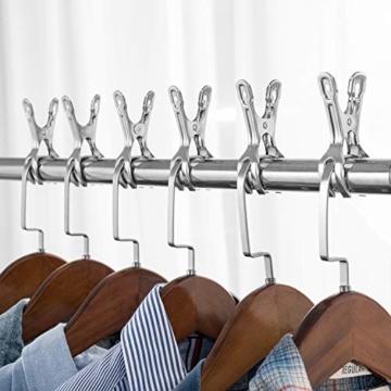 HB life 12 Stück kleine Wäscheklammern aus Edelstahl Handtuchklemmen Strandtuchklammern Handtücher Towel Clips für Tägliche Wäsche, Strandtuch, Badetuch, Bettwäsche und Dicke Kleidung(12Pcs) - 3