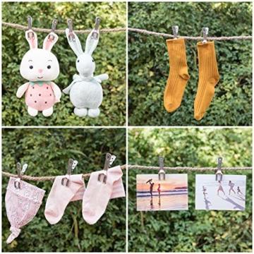 HB life 12 Stück kleine Wäscheklammern aus Edelstahl Handtuchklemmen Strandtuchklammern Handtücher Towel Clips für Tägliche Wäsche, Strandtuch, Badetuch, Bettwäsche und Dicke Kleidung(12Pcs) - 6