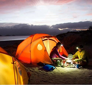 HIKENTURE Gaskocher mit Piezozündung, Gas Campingkocher für Coleman Primus Gasbrenner für Trekking Picknick Outdoor, Transportabler Camping Kocher, 3500W - 7